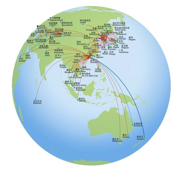 Mapa China Southern Airlines